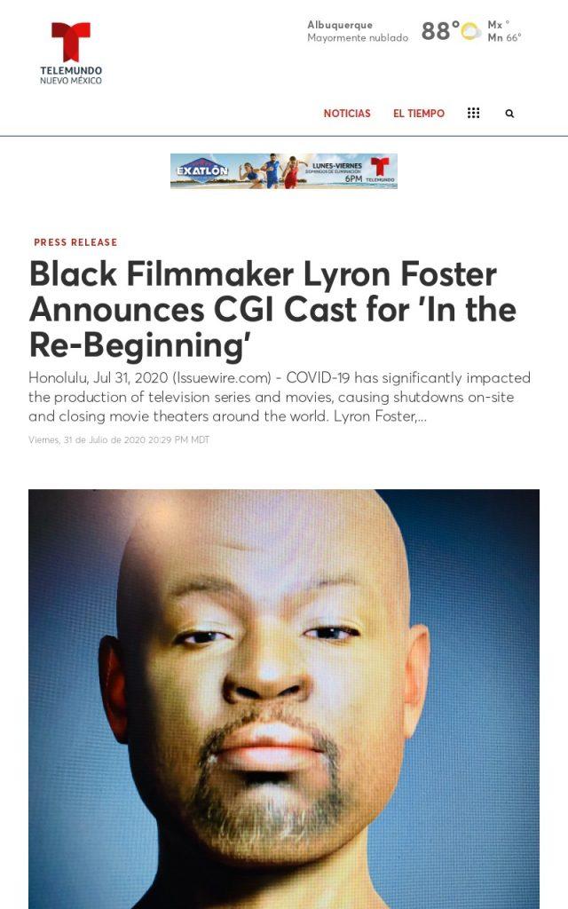 Press Coverage for Lyron Foster at Telemundo New Mexico